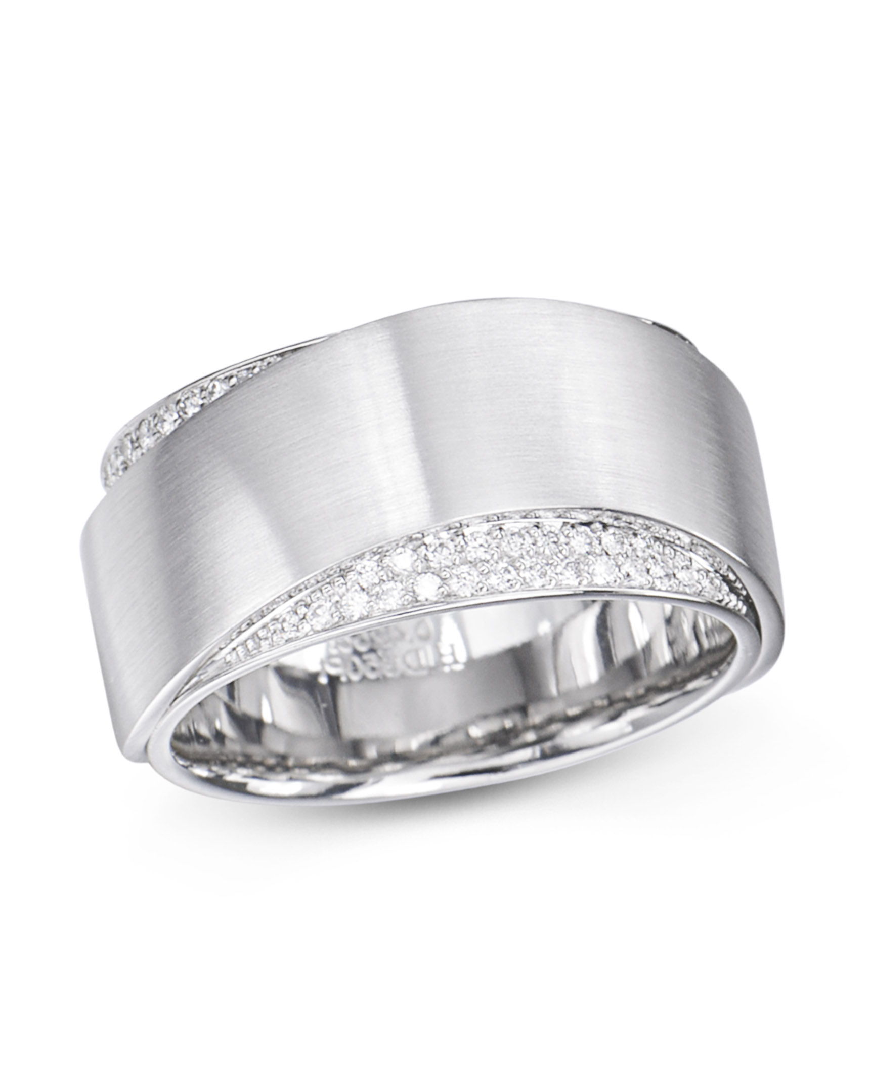 Platinum Wave Design Pavé Set Diamond Wedding Band Intended For Most Up To Date Wave Diamond Wedding Bands With Pavé (View 4 of 25)