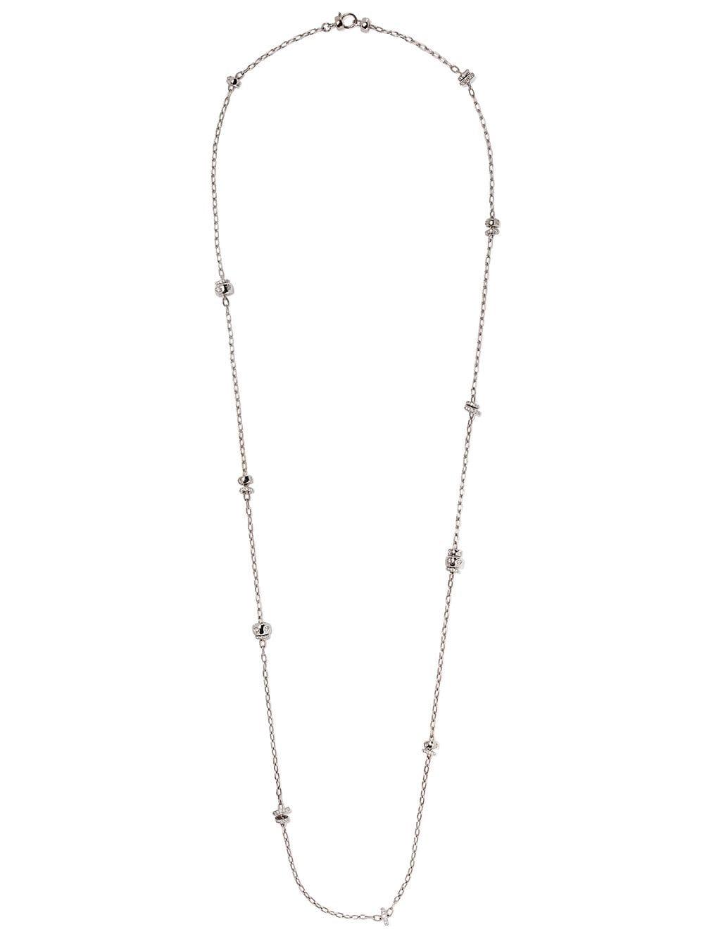 Pomellato 18kt White Gold Iconica Diamond Sautoir Necklace Throughout Latest White Gold Diamond Sautoir Necklaces (View 20 of 25)