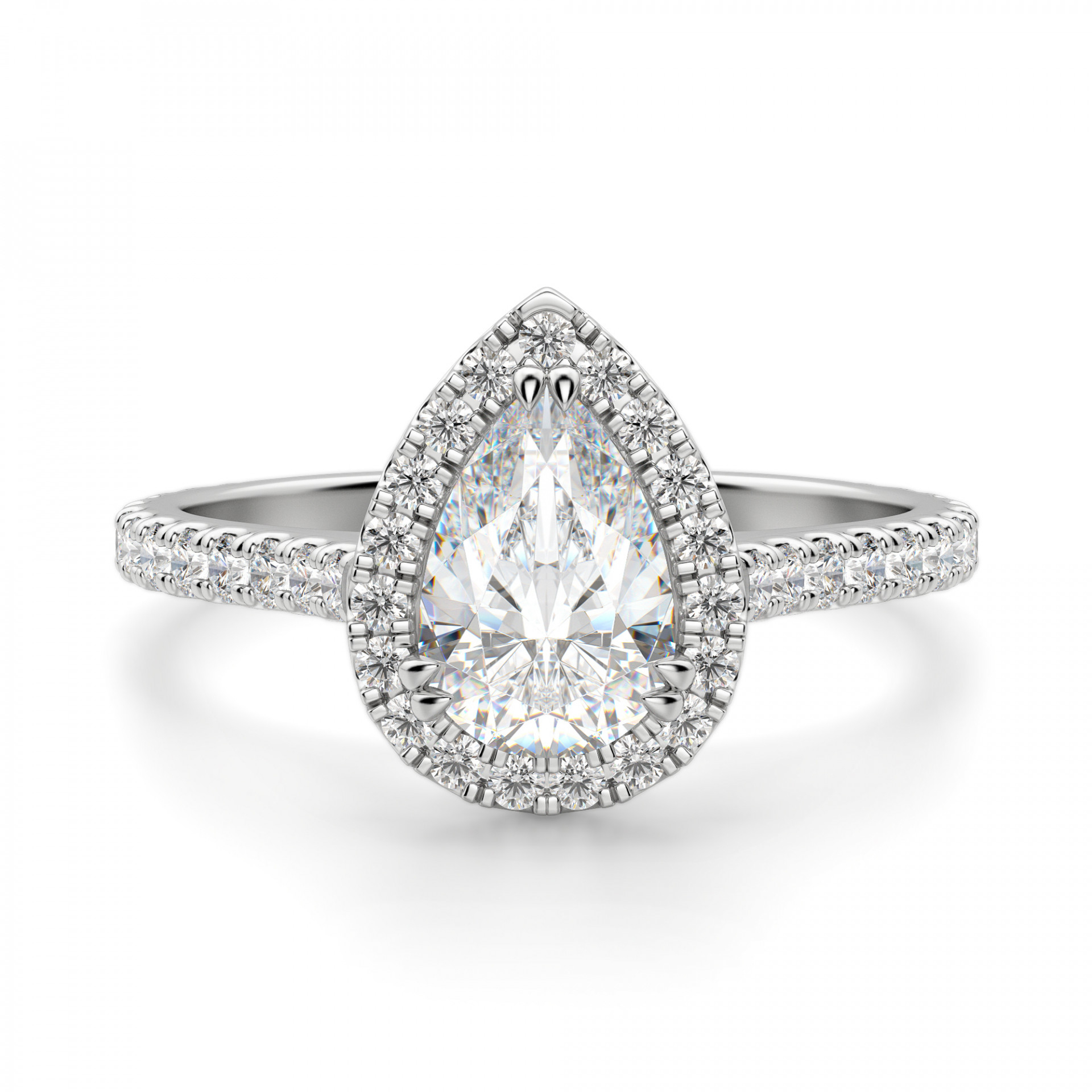 Prague Pear Cut Engagement Ring In Pear Shaped Engagement Rings (View 22 of 25)