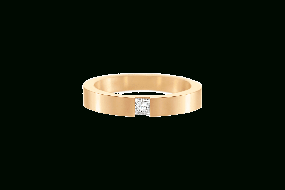 Princess Cut Diamond Wedding Band In Yellow Gold | Harry Winston Within Recent Princess Cut Single Diamond Wedding Bands In Yellow Gold (View 1 of 25)