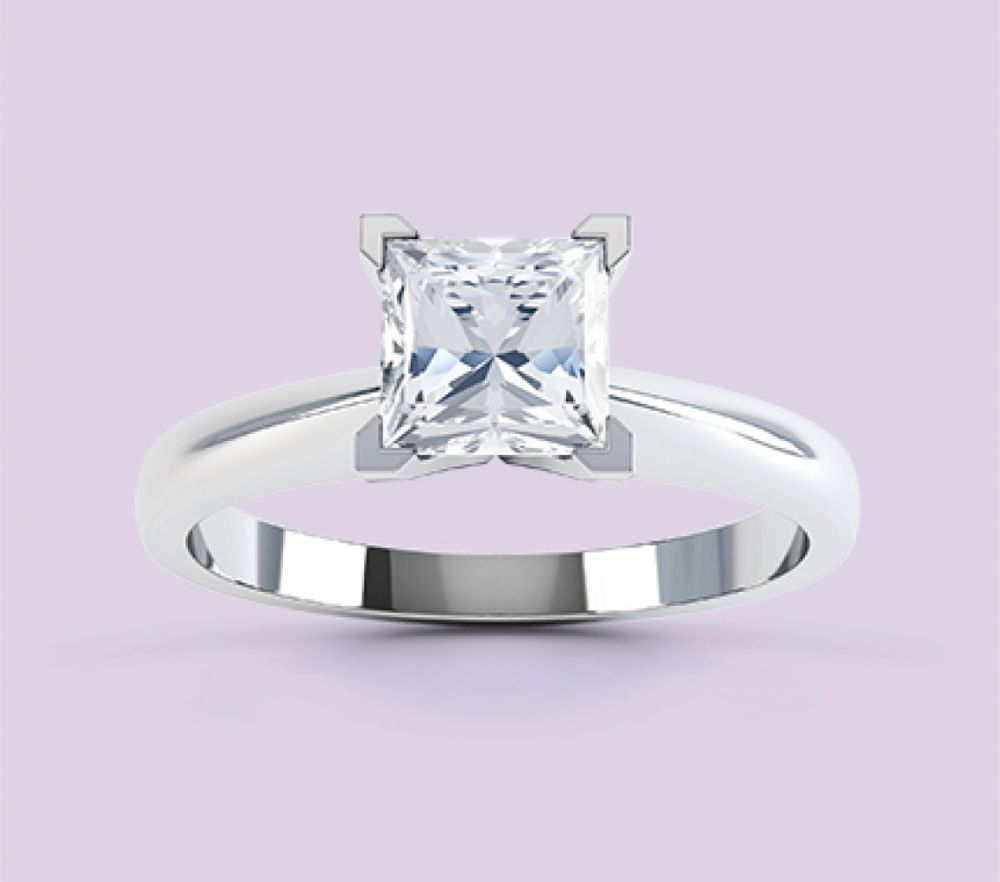 Princess Cut Engagement Rings | Princess Engagement Rings Within Most Recent Channel Set Baguette Cut Diamond Wedding Bands (View 3 of 25)