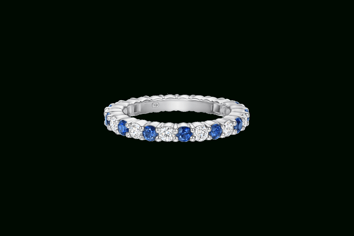 Featured Photo of Prong Set Round Brilliant Sapphire And Diamond Wedding Bands