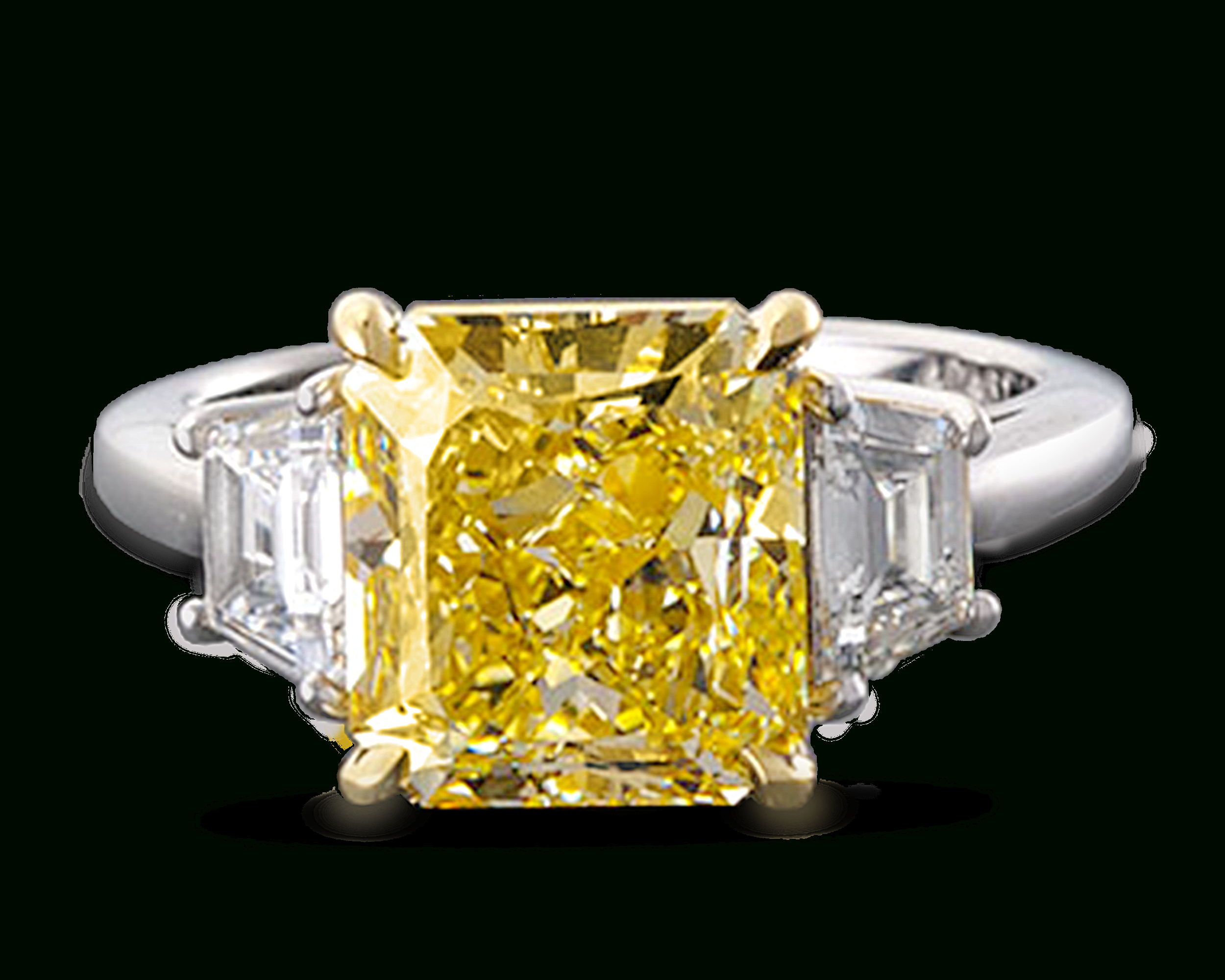 Featured Photo of Radiant Yellow Diamond Rings