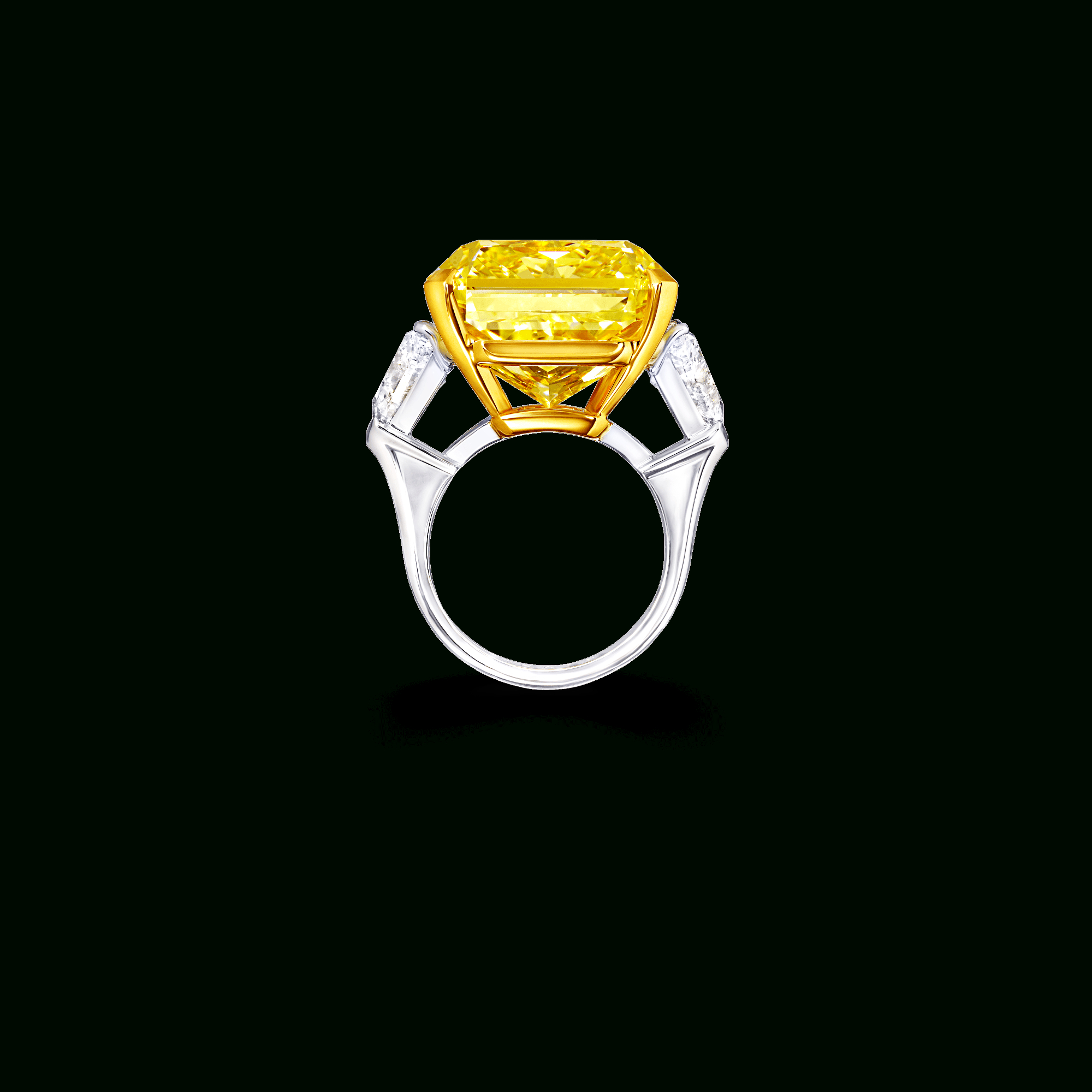 Radiant Cut Yellow And White Diamond Ring | Graff Pertaining To Radiant Yellow Diamond Rings (View 18 of 25)