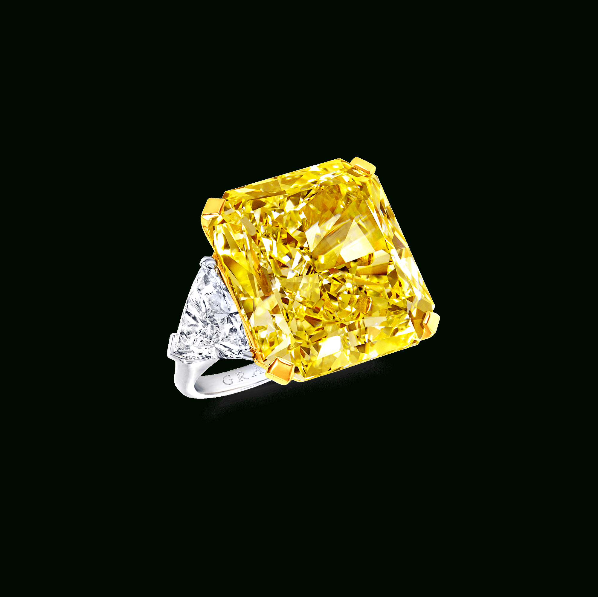 Radiant Cut Yellow And White Diamond Ring | Graff Within Radiant Yellow Diamond Rings (View 3 of 25)