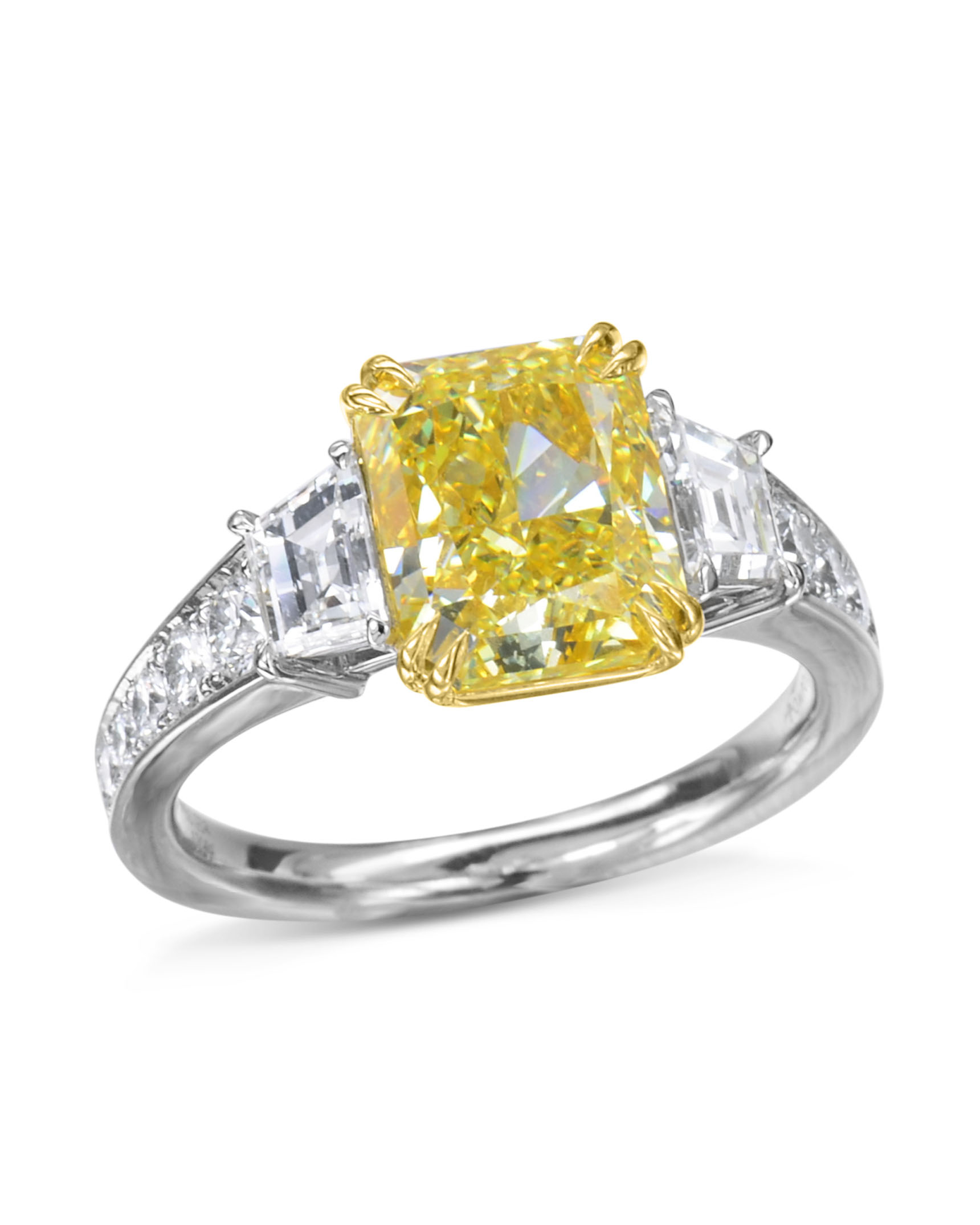Radiant Cut Yellow Diamond Engagement Ring Throughout Radiant Yellow Diamond Rings (View 4 of 25)