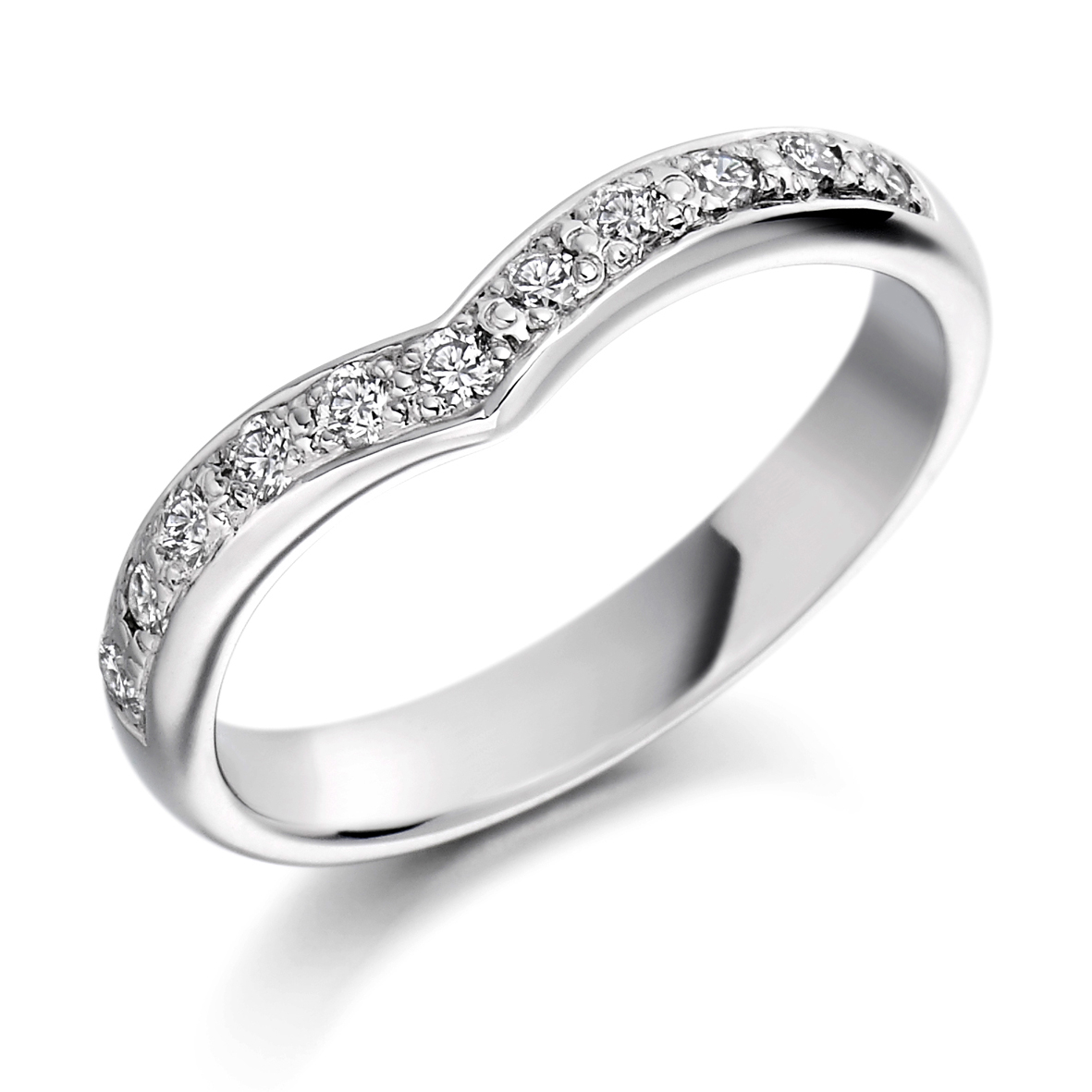 Ring Ida241 Throughout Latest V Shape Diamond Wedding Bands (Gallery 21 of 25)
