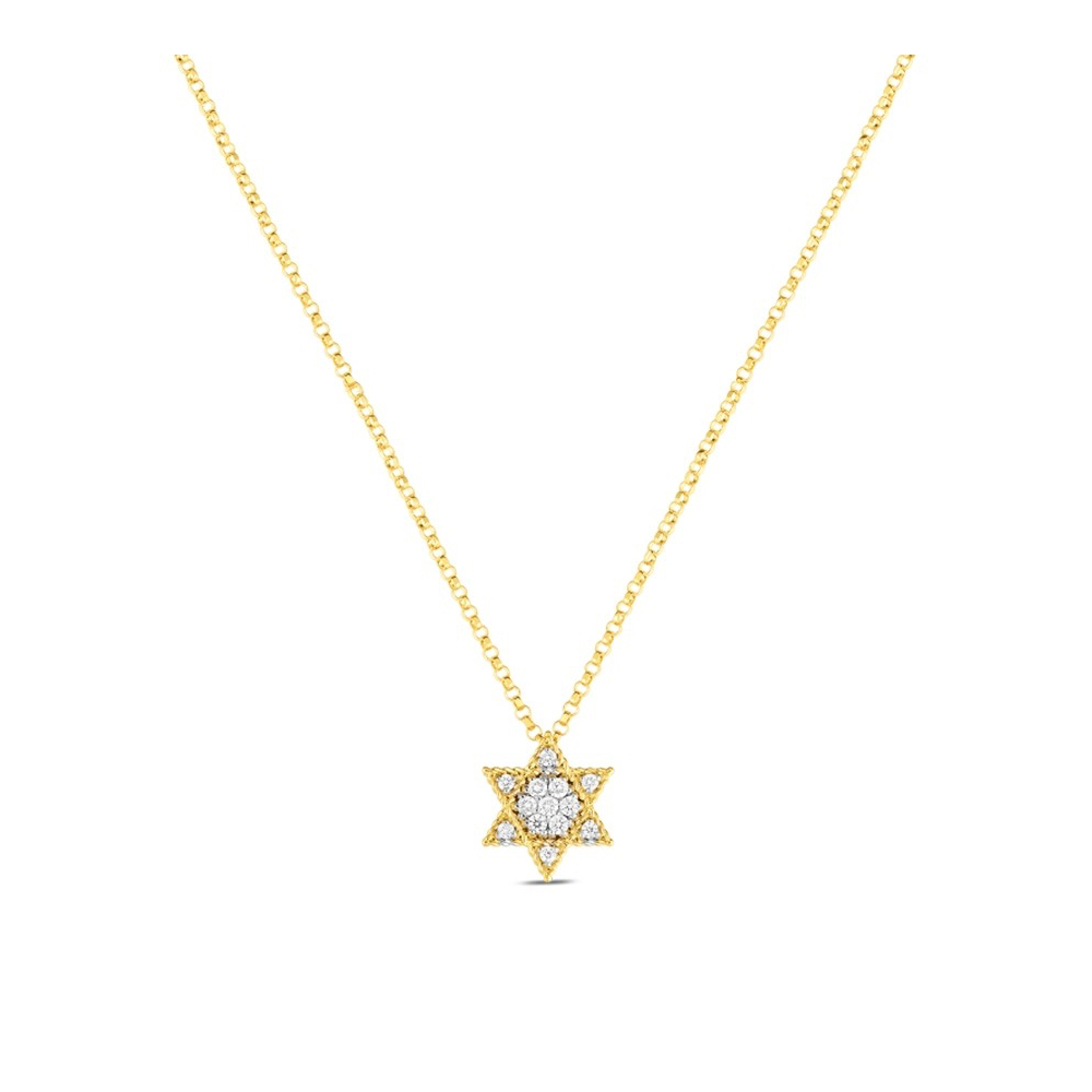 "Roberto Coin ""princess"" Small Diamond Star Of David Pendant Throughout Current Small Diamond Necklaces (View 14 of 25)"