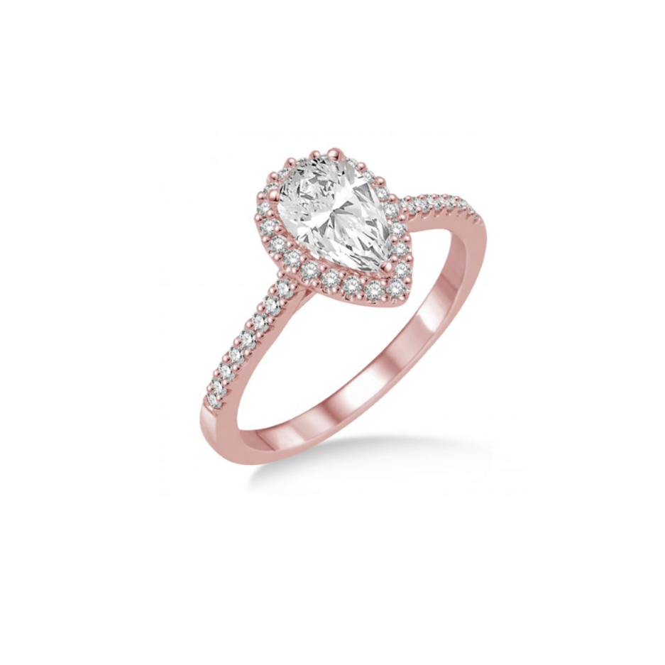 Rose Gold Pear Shape Diamond Ring | Where The Coast Gets Engaged Within Tryst Pear Shaped Diamond Engagement Rings (Gallery 15 of 25)
