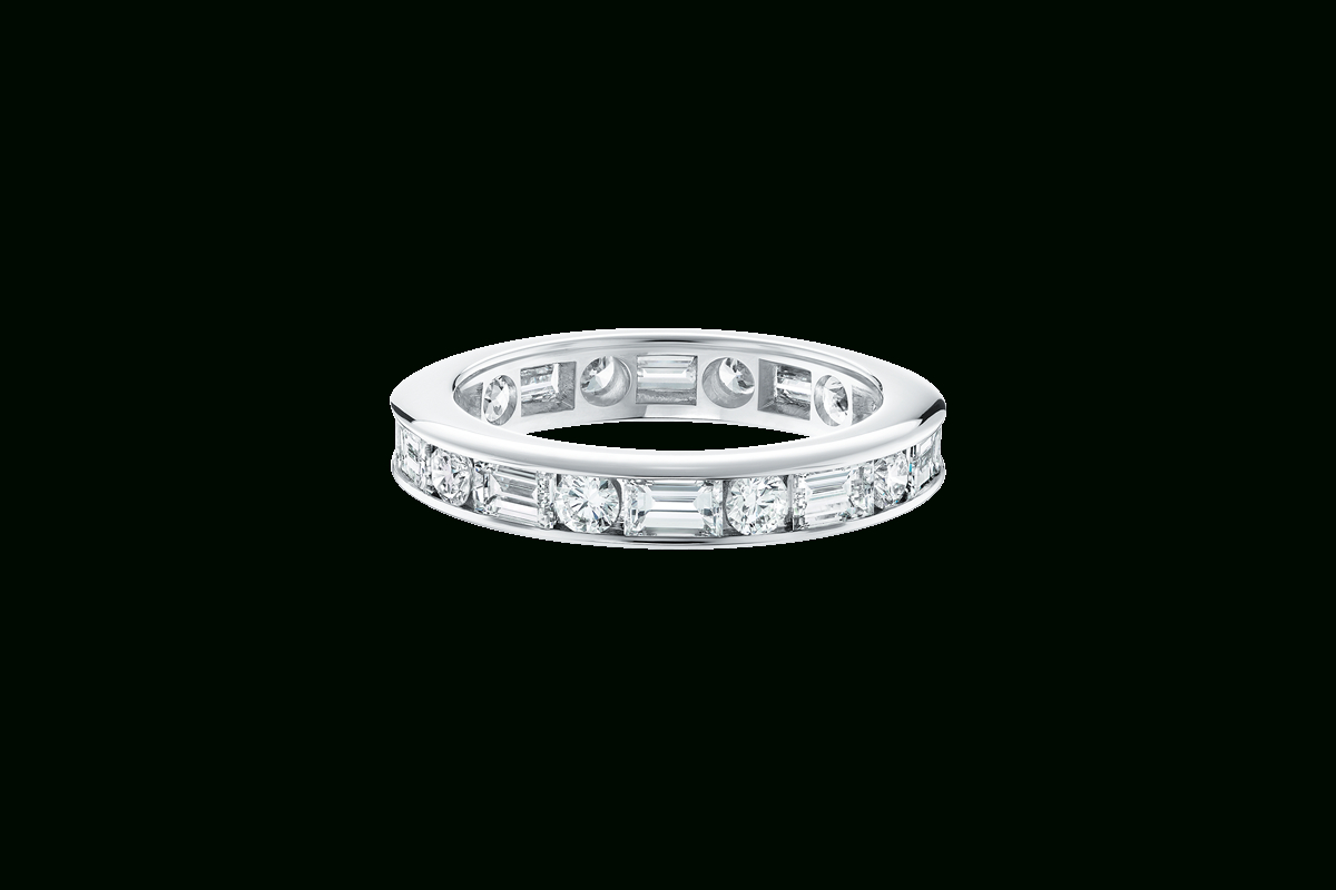 Round & Baguette Diamond Wedding Band | Harry Winston Regarding Best And Newest Channel Set Round Brilliant And Baguette Cut Diamond Wedding Bands (Gallery 4 of 25)