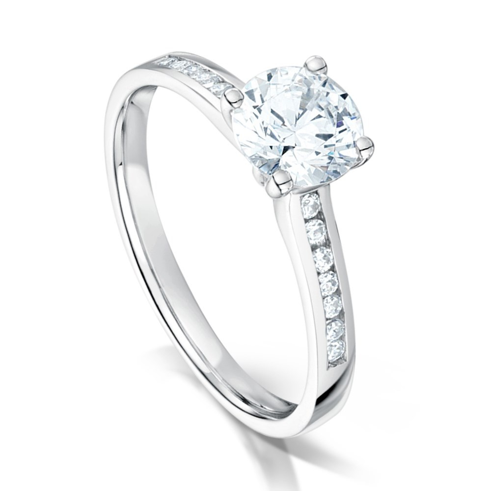 Round Brilliant Cut Diamond Engagement Ring – 0.60Ct Pertaining To Round Brilliant Diamond Engagement Rings (Gallery 13 of 25)