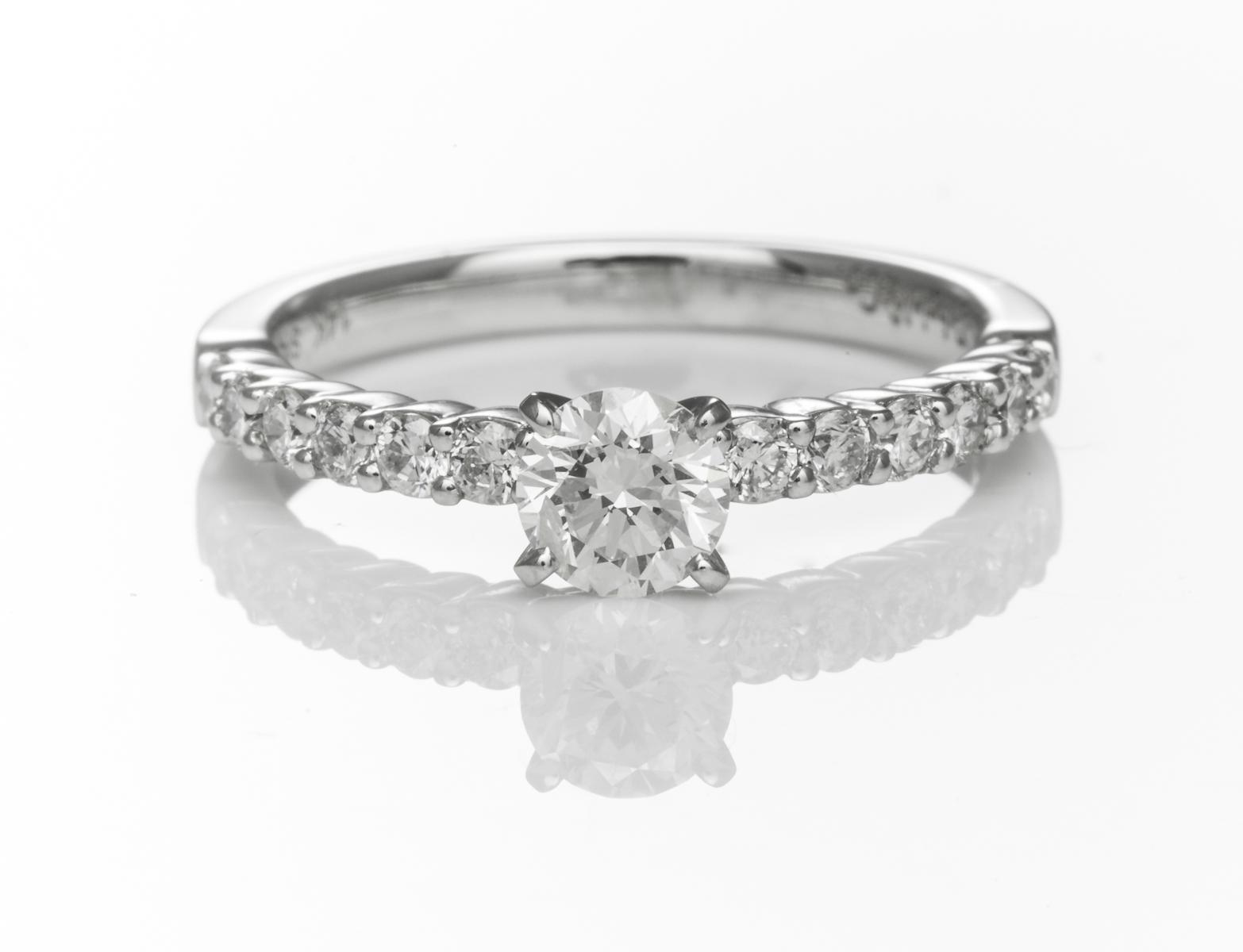Round Brilliant Cut Diamond Solitaire Ring Within Solitaire Round Brilliant Engagement Rings (Gallery 22 of 25)