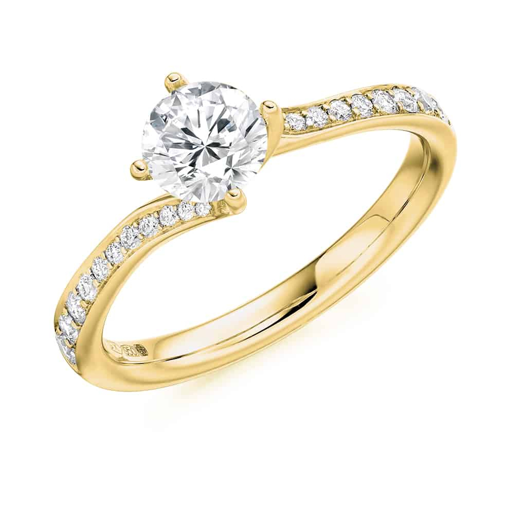 Round Brilliant Cut Solitaire Engagement Ring 16.95 Ct Throughout Solitaire Round Brilliant Engagement Rings (Gallery 24 of 25)