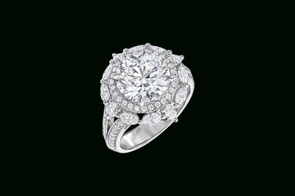 Round Brilliant Diamond Engagement Ring | Harry Winston Throughout Round Brilliant Diamond Engagement Rings (Gallery 15 of 25)