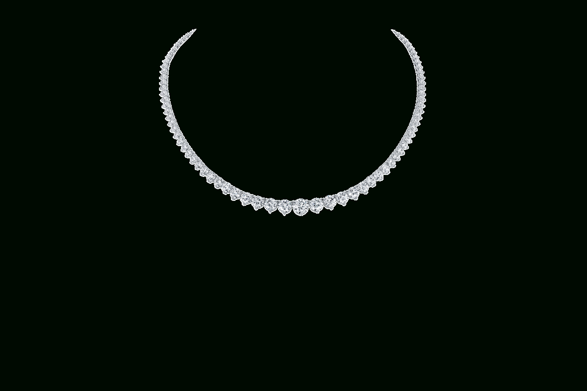 Round Brilliant Diamond Straightline Necklace | Harry Winston Within Most Up To Date Round Brilliant Diamond Straightline Necklaces (View 24 of 25)