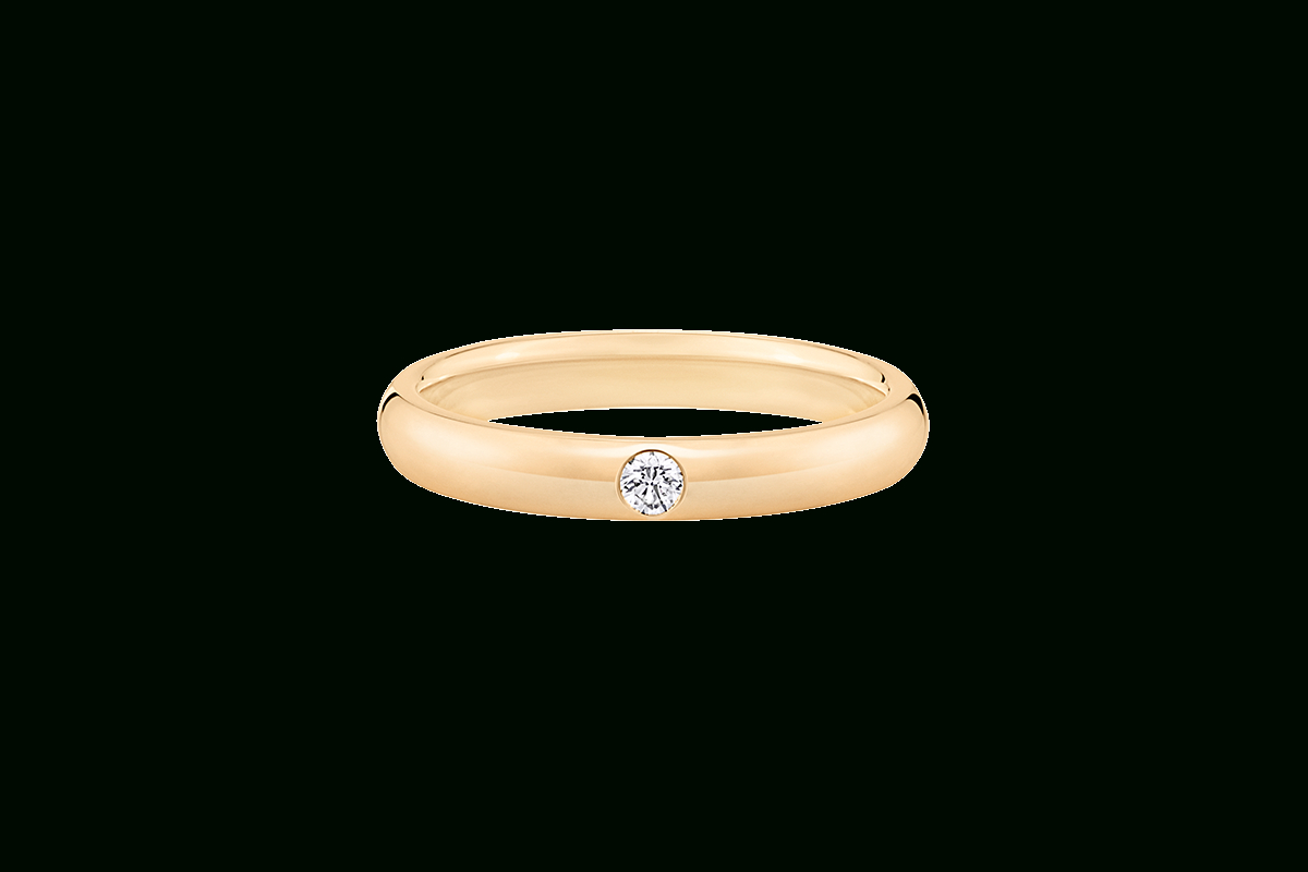 Round Brilliant Single Diamond Wedding Band | Harry Winston Within Most Recently Released Round Brilliant Single Diamond Wedding Bands (View 2 of 25)
