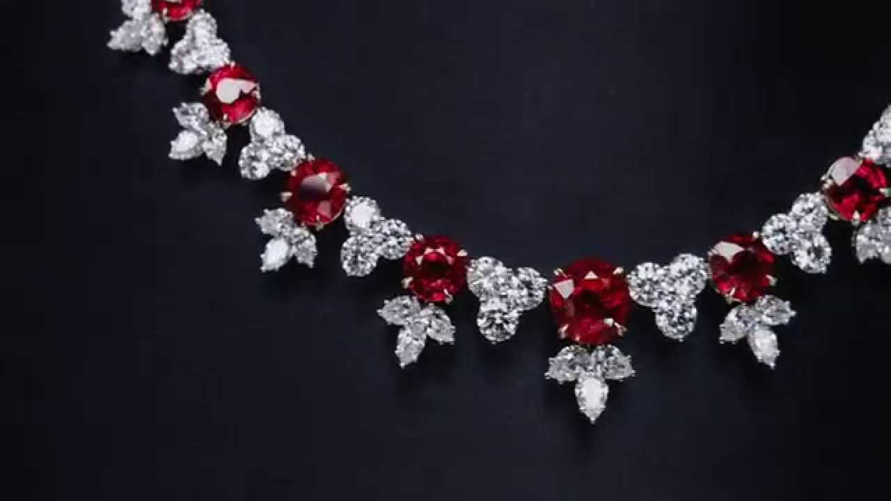 Featured Photo of Ruby And Diamond Cluster Necklaces