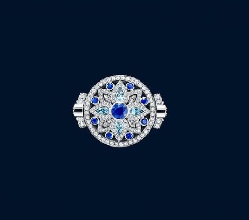 Secret Wonderharry Winston, Reversible Diamond, Sapphire Within Current Reversible Diamond, Sapphire And Aquamarine Pendant Necklaces (Gallery 10 of 25)