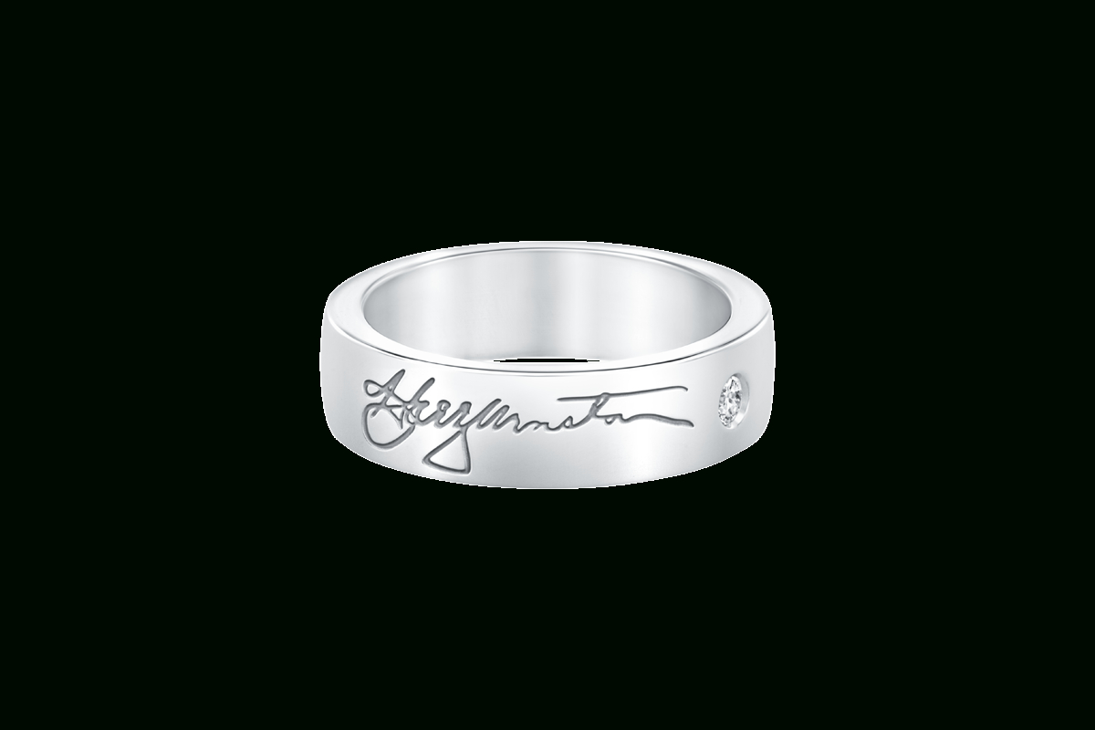 Signature Wedding Band | Harry Winston For Most Current Signature Bands Ring (Gallery 2 of 25)