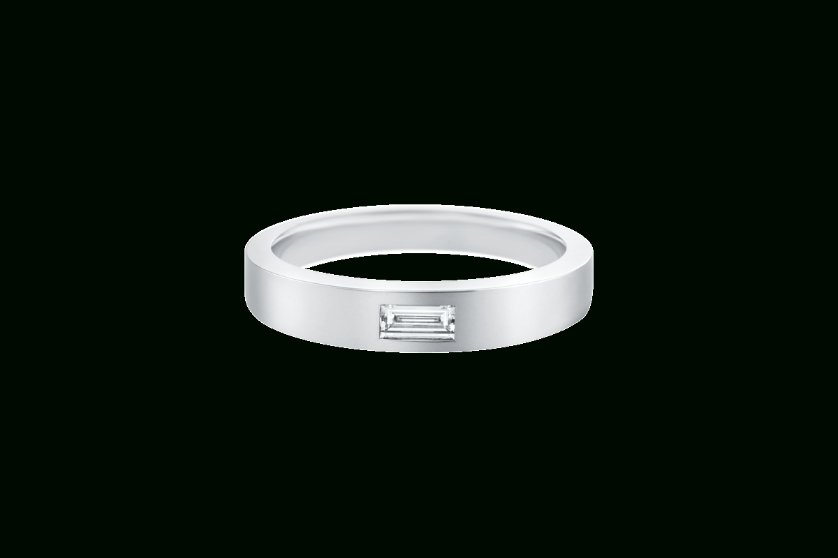 Single Baguette Diamond Wedding Band | Harry Winston For Most Recently Released Baguette Cut Single Diamond Wedding Bands (Gallery 3 of 25)