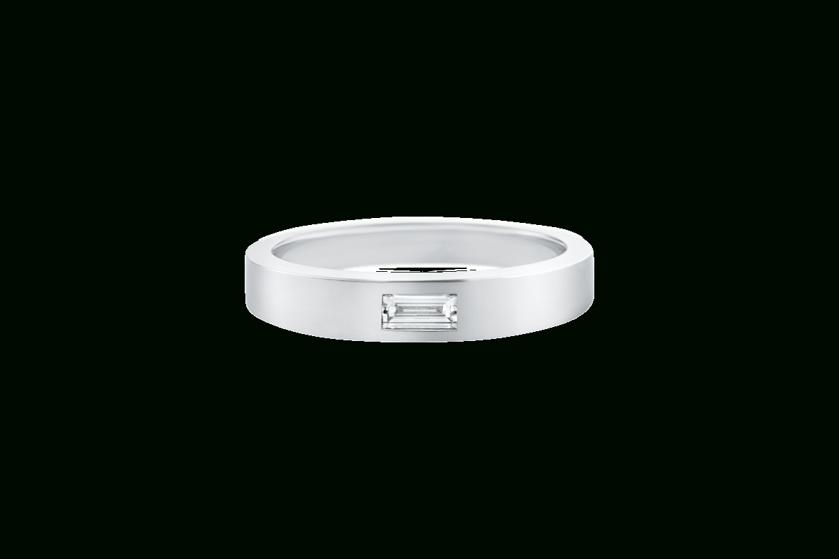 Single Baguette Diamond Wedding Band | Harry Winston Throughout Best And Newest Baguette Cut Single Diamond Wedding Bands (View 22 of 25)