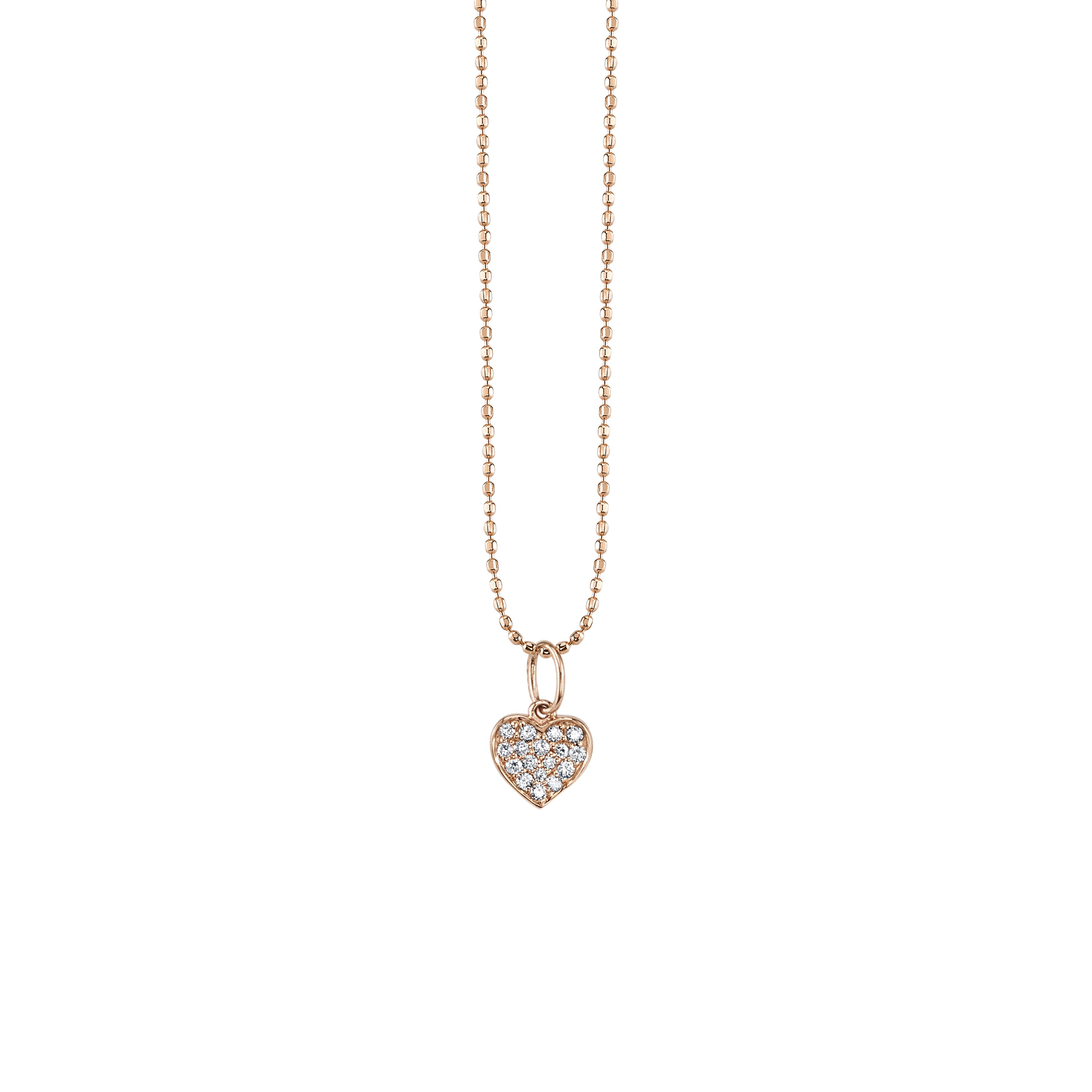 Small Gold & Pavé Diamond Heart Necklace With Current Small Diamond Necklaces (View 18 of 25)