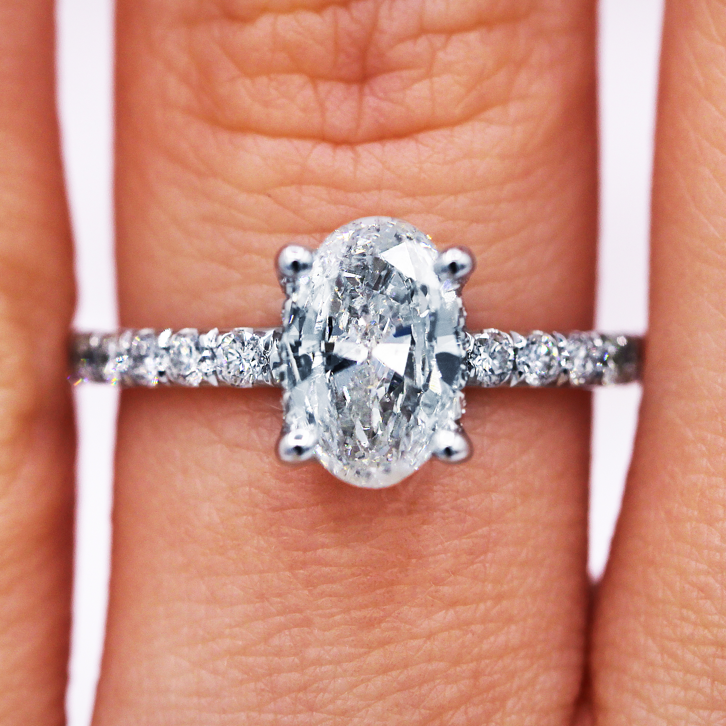 Sold!!!elegant Oval Shaped Diamond Engagement Ring Regarding Oval Shaped Engagement Rings (View 10 of 25)