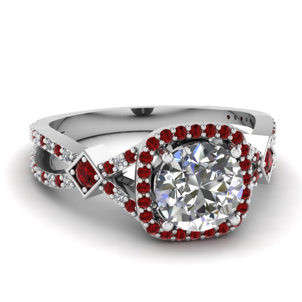 Split Wave Ring Intended For Round Brilliant Diamond Micropavé Engagement Rings (Gallery 25 of 25)