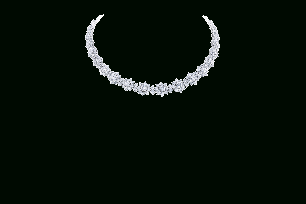 Sunflowerharry Winston, Medium Diamond Necklace | Harry In Recent Medium Diamond Necklaces (Gallery 20 of 25)