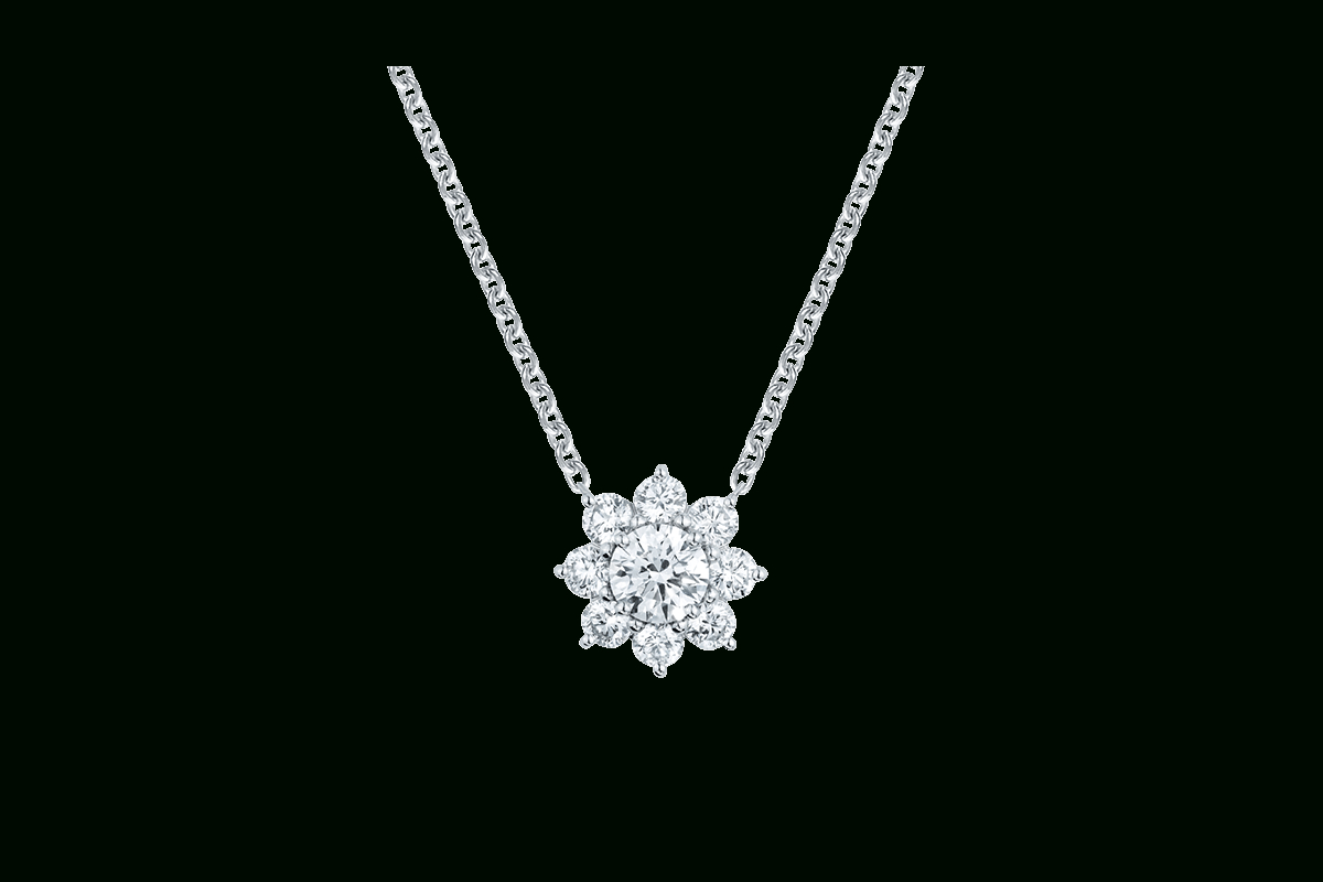 Sunflowerharry Winston, Medium Diamond Pendant | Harry In 2019 Medium Diamond Necklaces (View 11 of 25)