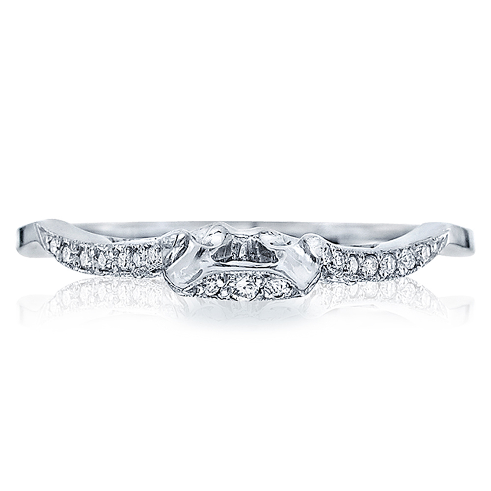 Tacori 2573Mdb 18 Karat Ribbon Diamond Wedding Band With Regard To Most Recent Ribbon Diamond Wedding Bands (Gallery 9 of 25)