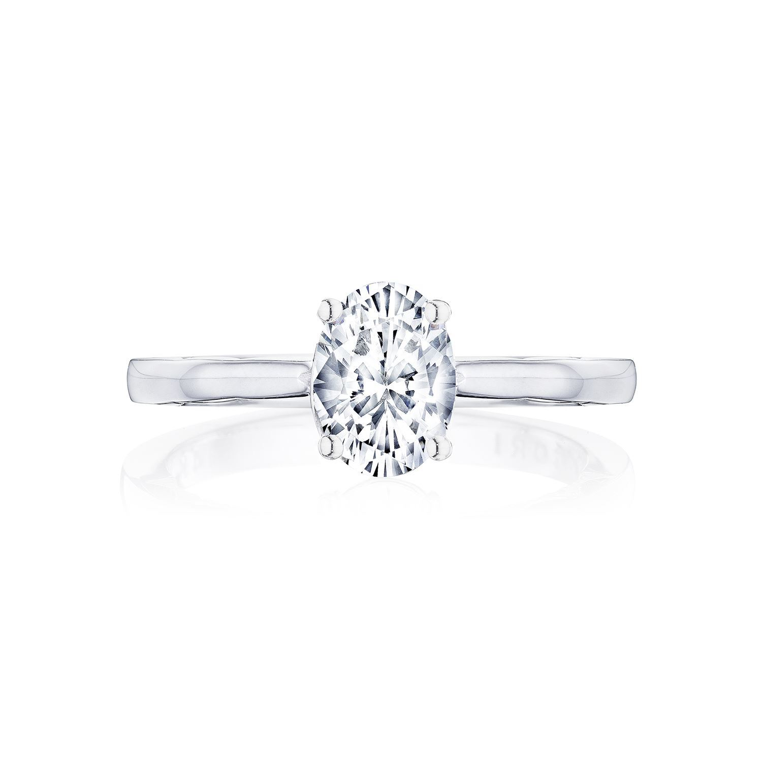 Tacori Coastal Crescent P100ov Solitaire Engagement Ring Within Oval Shaped Engagement Rings (View 13 of 25)