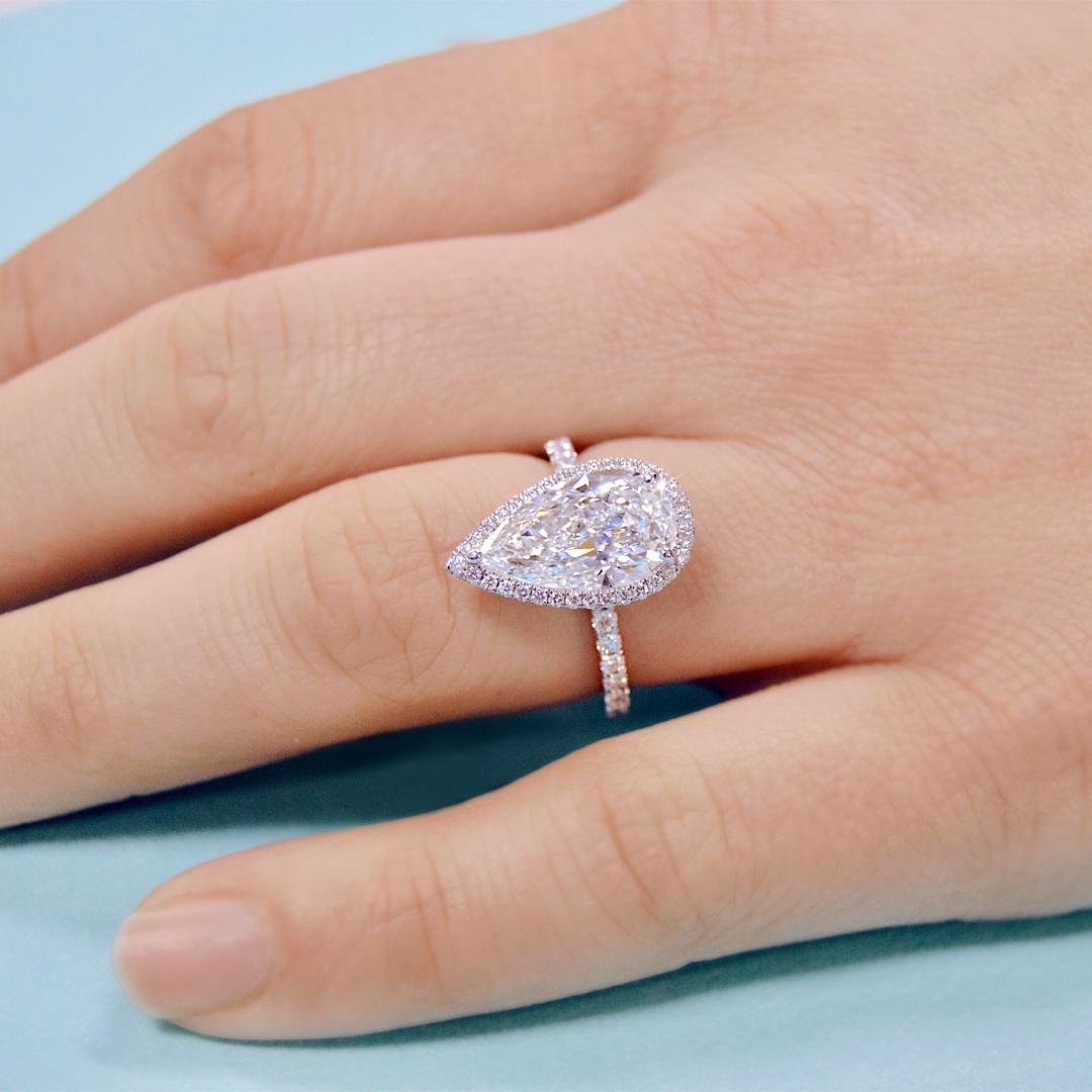 Teardrop Diamonds – Ascot Diamonds Pertaining To Tryst Pear Shaped Diamond Engagement Rings (View 20 of 25)