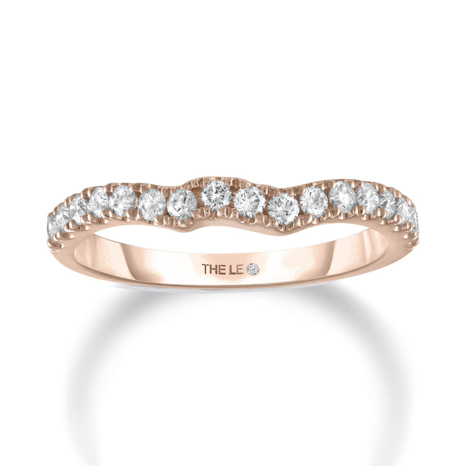The Collection – The Leo Diamond With 2017 Princess Cut Single Diamond Wedding Bands In Rose Gold (Gallery 14 of 25)