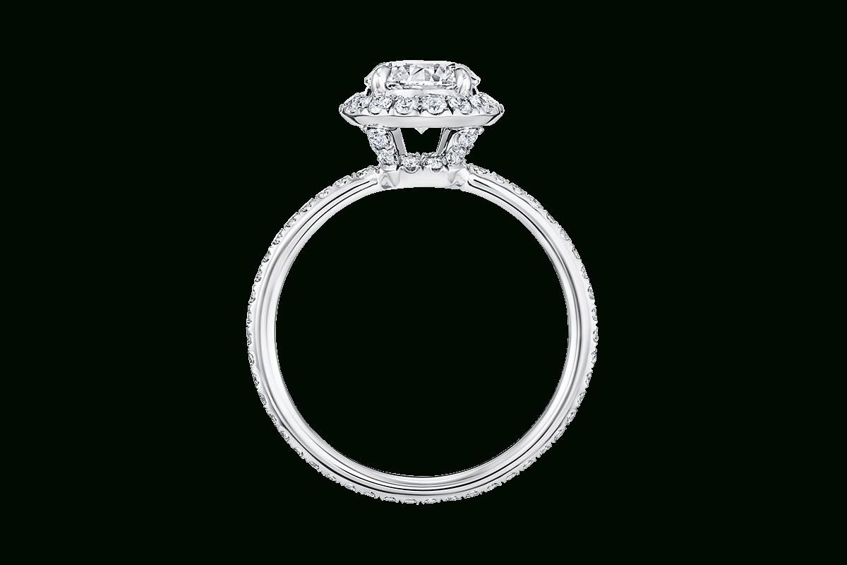 The One Cushion Cut Engagement Ring | Harry Winston In Cushion Cut Diamond Micropavé Engagement Rings (View 6 of 25)
