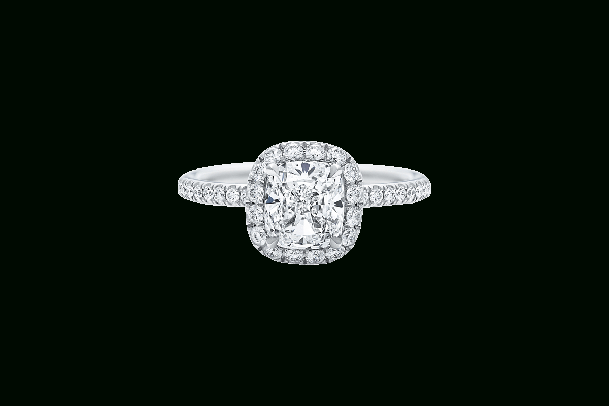 The One Cushion Cut Engagement Ring | Harry Winston With Regard To Cushion Cut Diamond Micropavé Engagement Rings (Gallery 18 of 25)