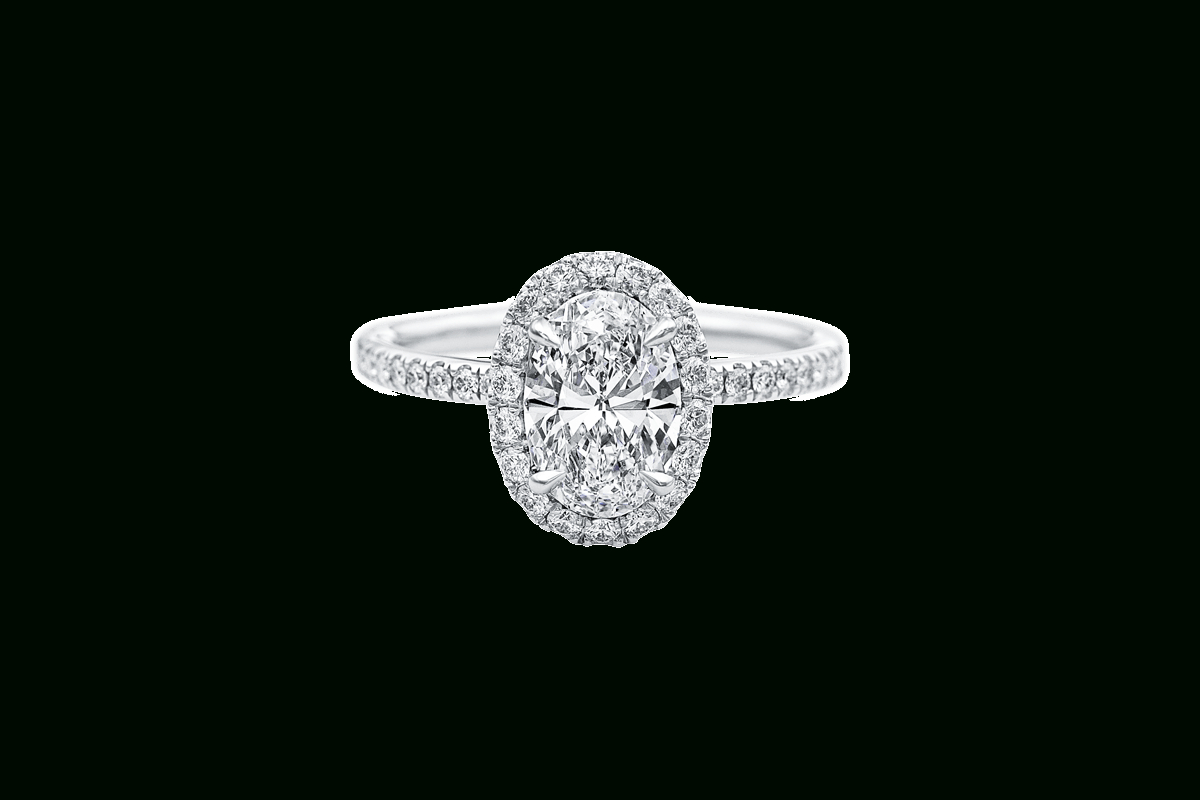 The One Oval Engagement Ring | Harry Winston Inside Oval Shaped Diamond Micropavé Engagement Rings (View 7 of 25)