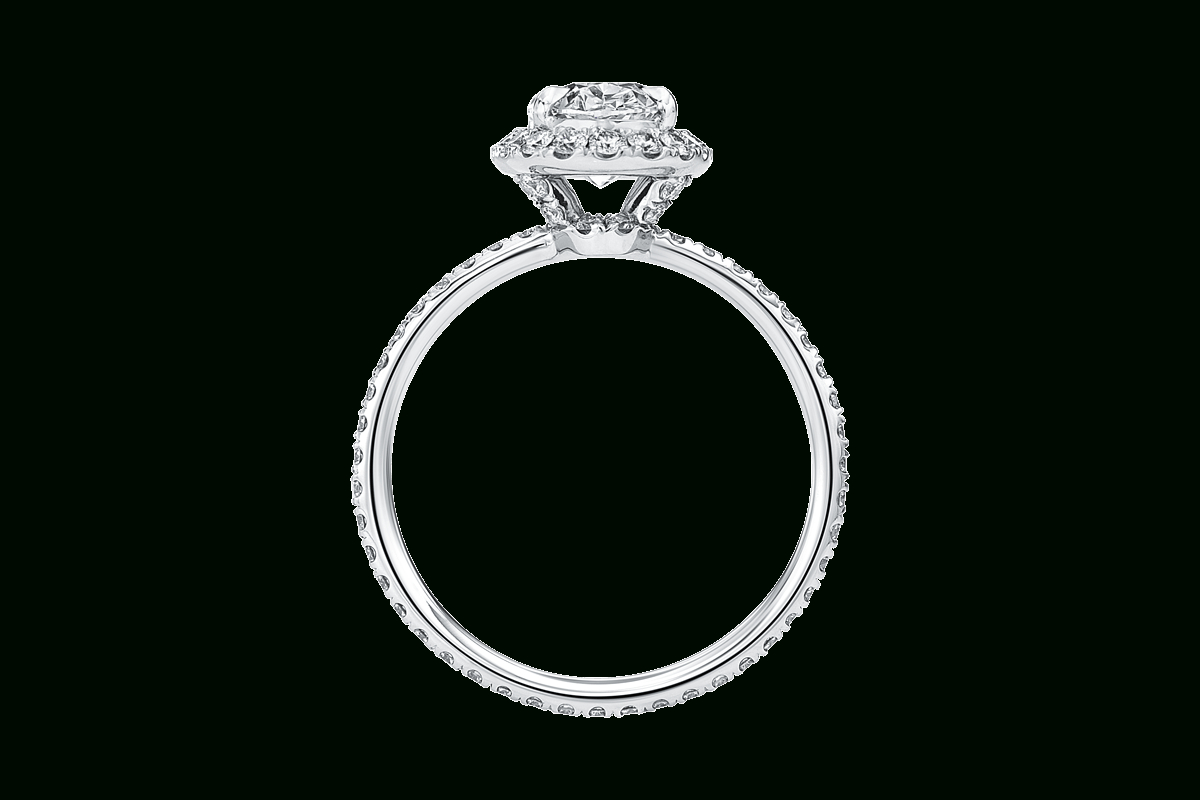 The One Oval Engagement Ring | Harry Winston Pertaining To Oval Shaped Diamond Micropavé Engagement Rings (View 16 of 25)