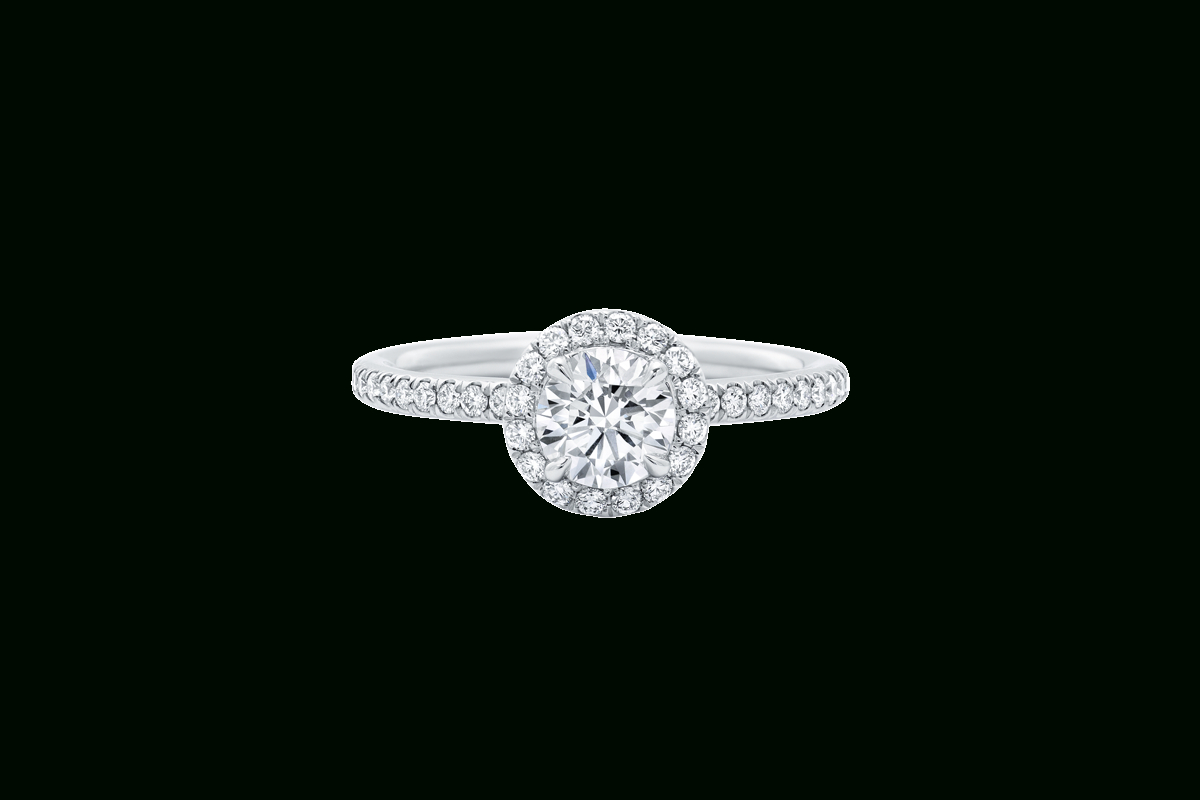 The One Round Brilliant Engagement Ring | Harry Winston Regarding Round Brilliant Diamond Micropavé Engagement Rings (View 10 of 25)