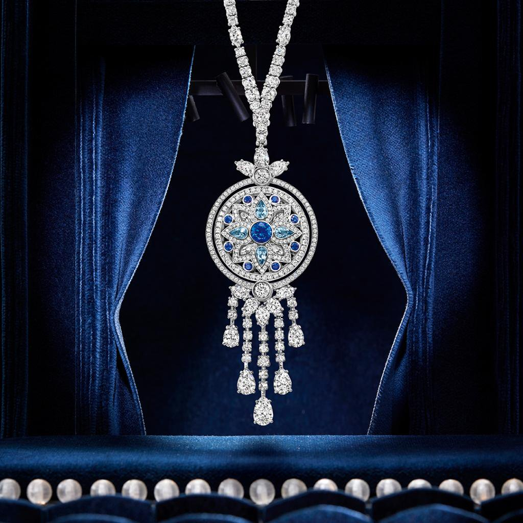 The Star Of Awards Season. Discover The Secret Wonder Within 2019 Reversible Diamond, Sapphire And Aquamarine Pendant Necklaces (Gallery 7 of 25)