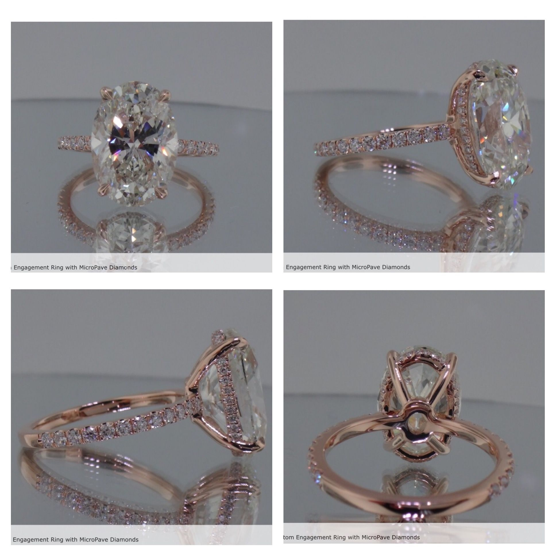 This! Oval Shaped Diamond In A Rose Gold Setting (View 24 of 25)