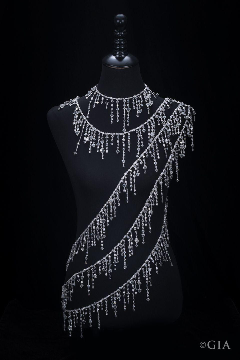 This Stunning 18k White Gold Diamond Sautoir (a Very Long With 2020 White Gold Diamond Sautoir Necklaces (View 16 of 25)
