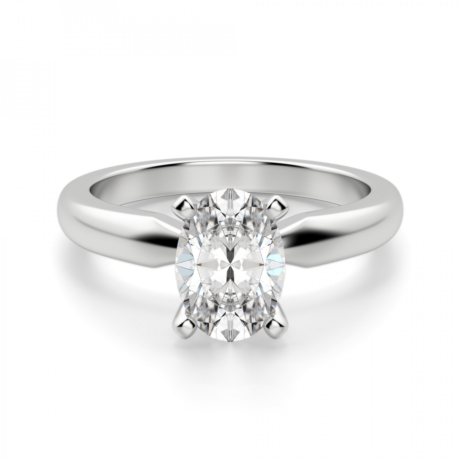 Tiffany Style Solitaire Oval Cut Engagement Ring For Oval Shaped Engagement Rings (View 24 of 25)