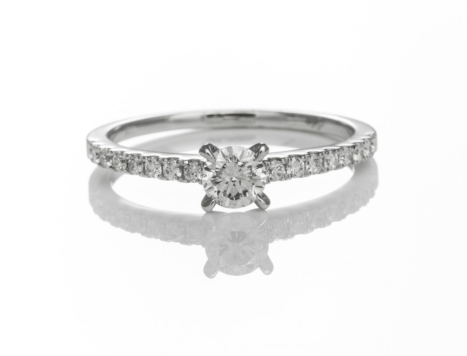 Timeless Round Brilliant Cut Diamond Engagement Ring Within Round Brilliant Diamond Engagement Rings (Gallery 19 of 25)