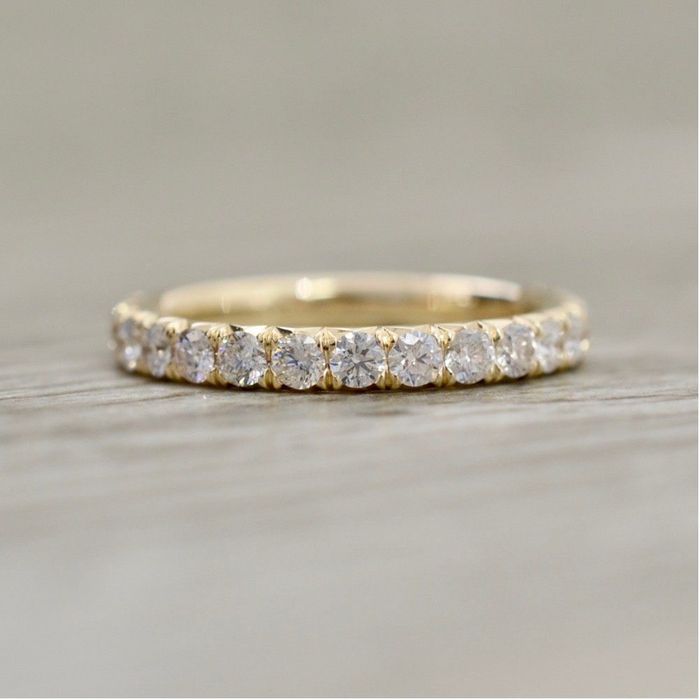 True Pave Wedding Bands With Latest Micropavé Diamond Dome Wedding Bands (View 16 of 25)
