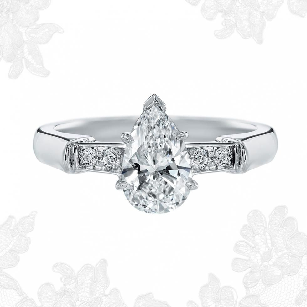 Tryst, Pear Shaped Diamond Engagement Ring | Harry Winston With Regard To Tryst Pear Shaped Diamond Engagement Rings (View 25 of 25)
