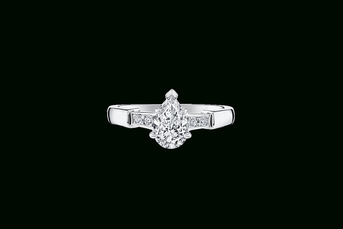 Tryst Pear Shaped Engagement Ring | Harry Winston Intended For Tryst Pear Shaped Diamond Engagement Rings (Gallery 2 of 25)