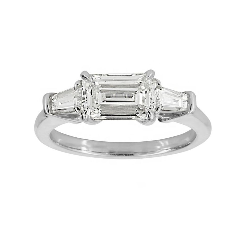 Twolondon Platinum 3 Stone Ring With (View 18 of 25)