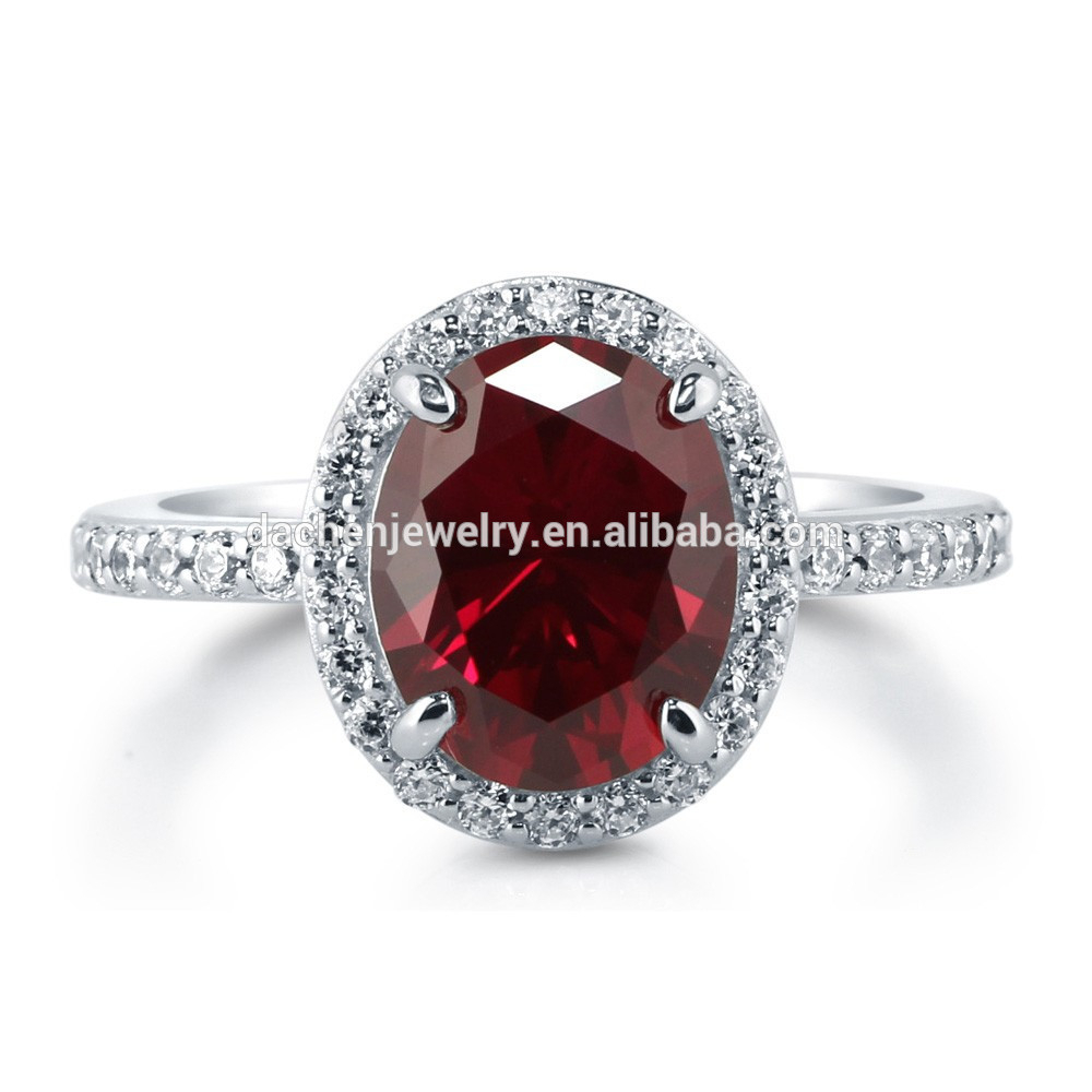 Vintage Big Oval Cut Ruby 925 Sterling Silver Ring Ruby And Pave Diamond  Ring – Buy Opal And Ruby Ring,ruby Diamond Cluster Ring,baguette Cut  Diamond Inside Oval Shaped Ruby Micropavé Rings (Gallery 19 of 25)