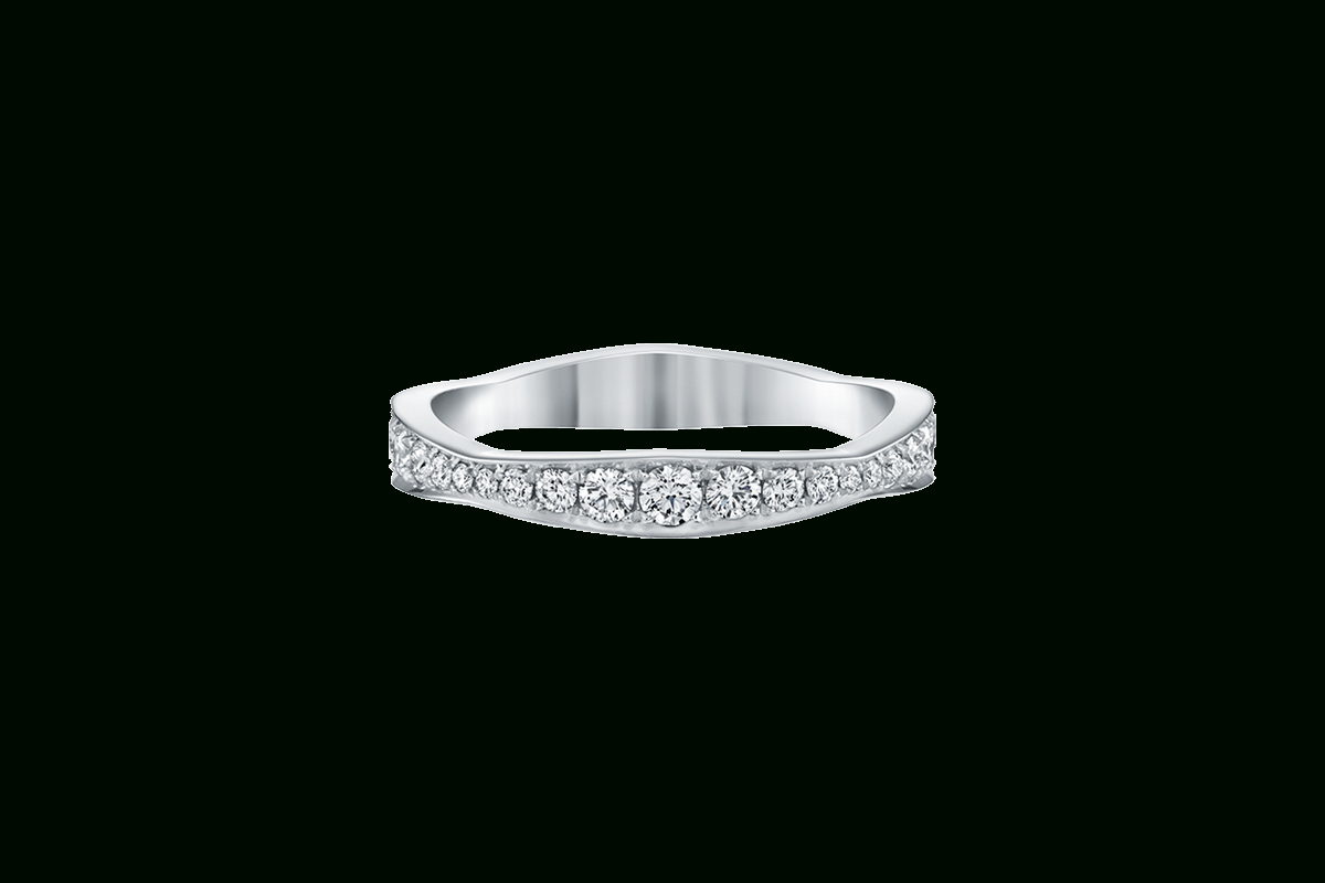 Featured Photo of Wave Diamond Wedding Bands With Pavé